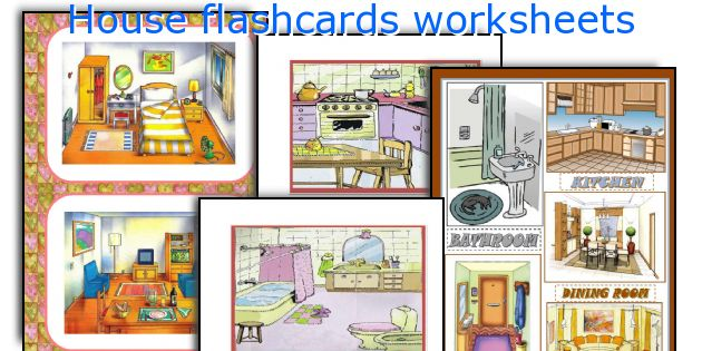 House Flashcards Worksheets