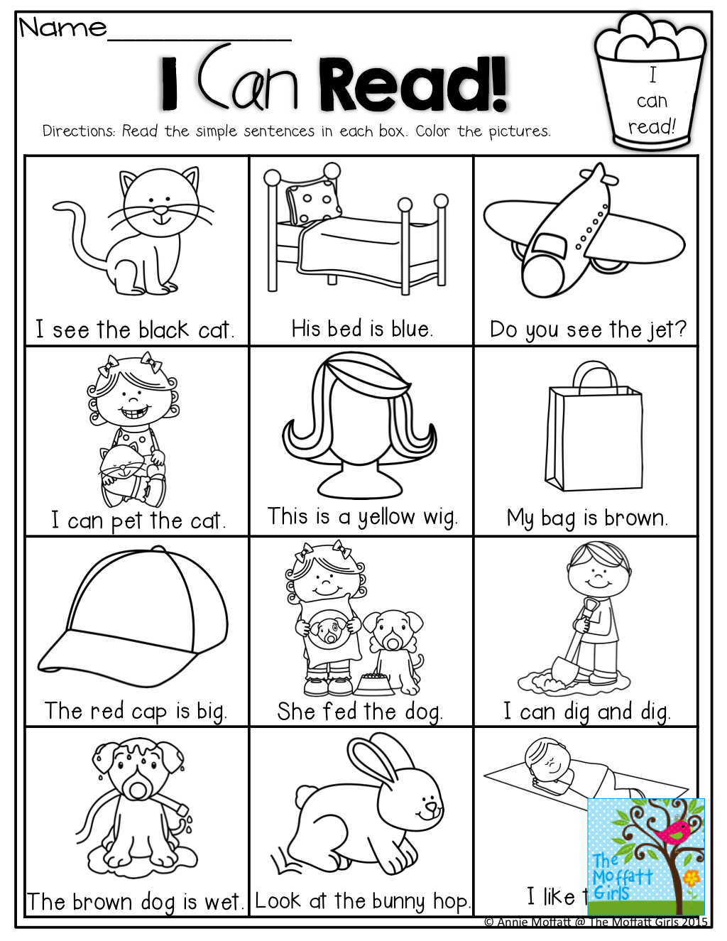 I Can Read! Simple Sentences That Kids Can Decode With, Cvc