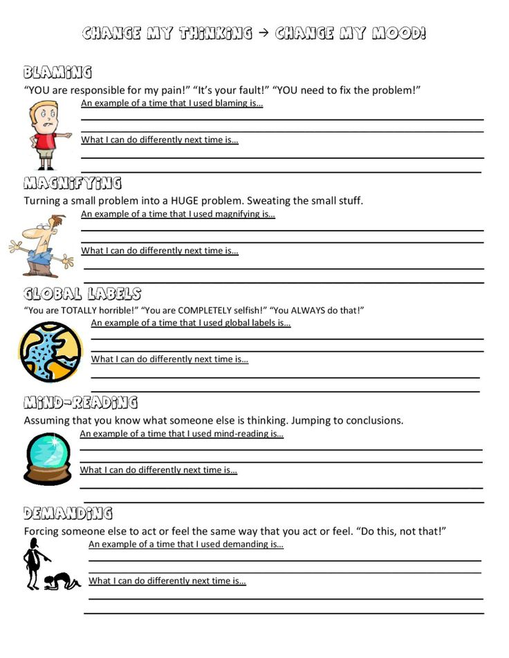Ideas Collection Mental Health Worksheets For High School For