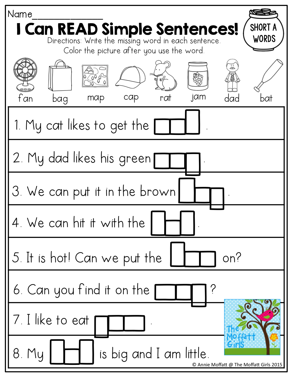Ideas Collection Simple Sentences Worksheets For Kindergarten