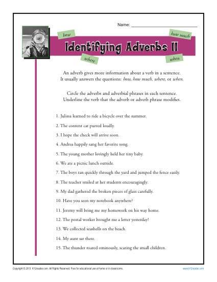 Identifying Adverbs Ii