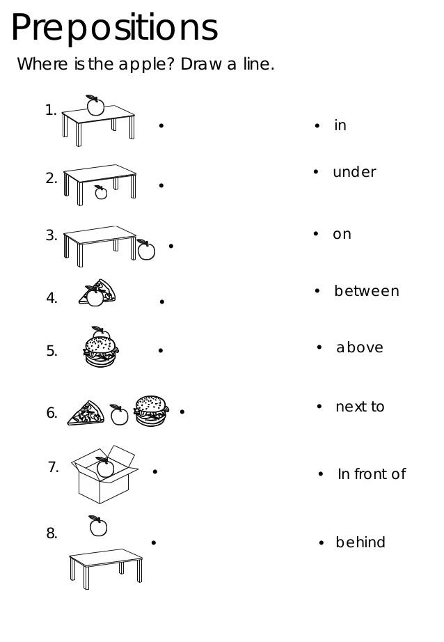 In On Under Worksheets For Kindergarten Pdf 265660
