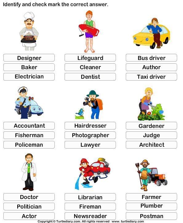 Jobs Worksheet For Preschool  59612