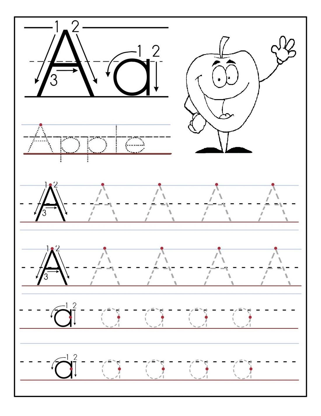 Kindergarten Alphabet Worksheets Tracing 660512