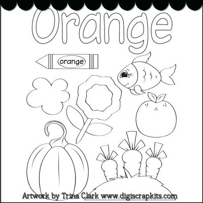 Kindergarten Color Orange Worksheets  468540