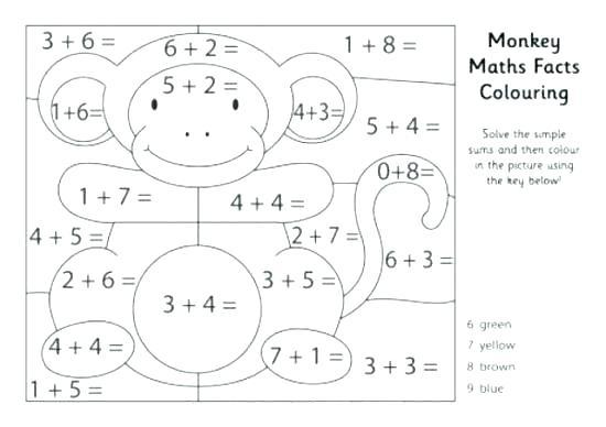 Kindergarten Coloring Worksheets Math 355136