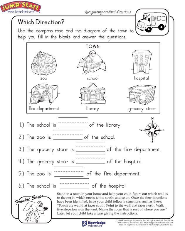 Kindergarten Direction Worksheets 1397628