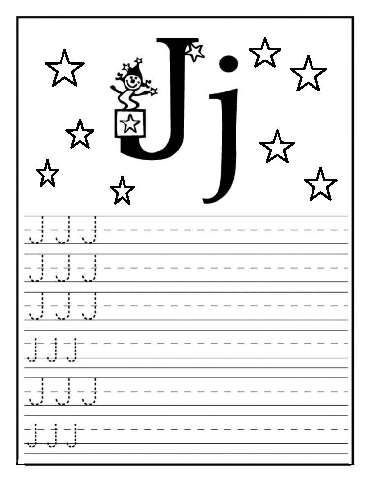 Kindergarten J Worksheets 266589