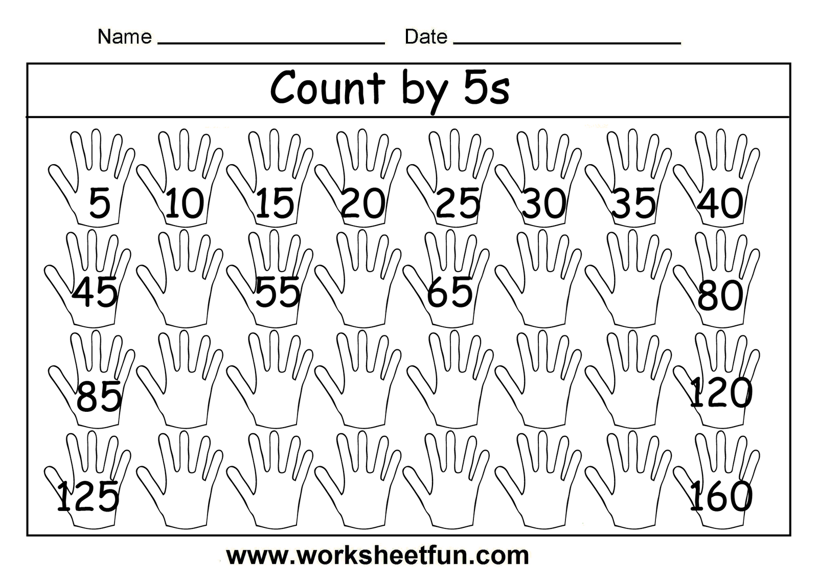 Kindergarten Math Worksheets Counting By 5 997438