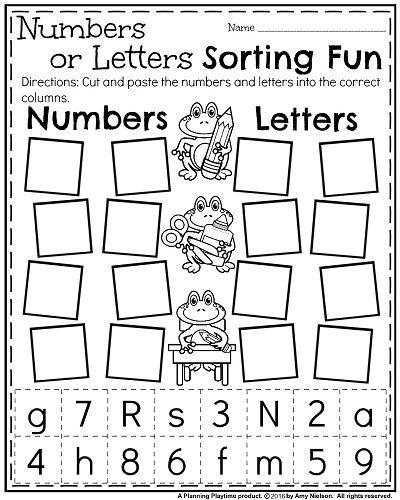 Kindergarten Sorting Worksheets Free