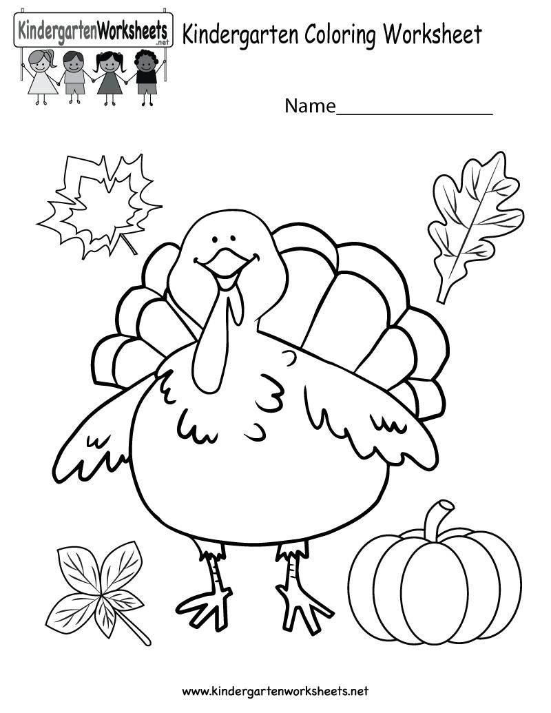Kindergarten Thanksgiving Activity Worksheets 595875