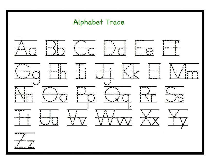 Kindergarten Tracing Alphabet Worksheets