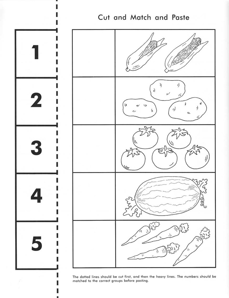 Kindergarten Vegetable Worksheets 669376