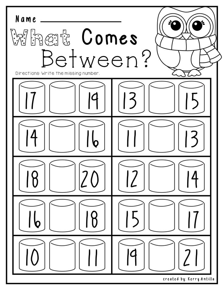 Kindergarten Winter Math Worksheets 346006