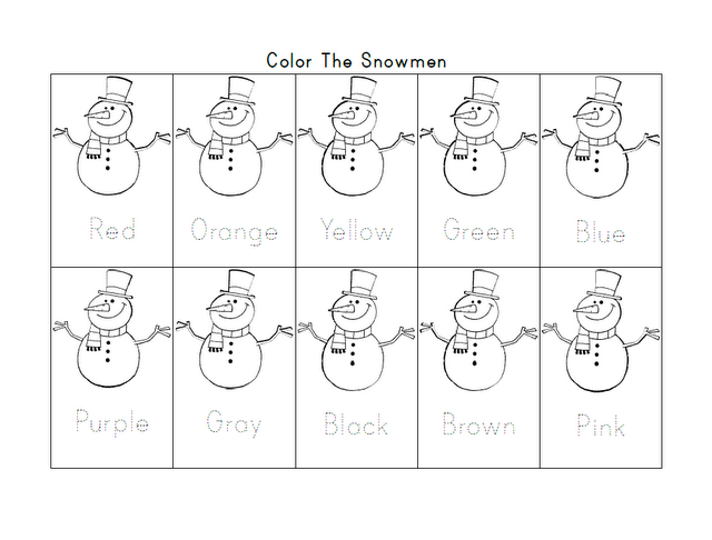 Kindergarten Winter Themed Math Worksheets