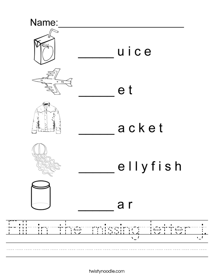 Kindergarten Worksheet Letter J 74468
