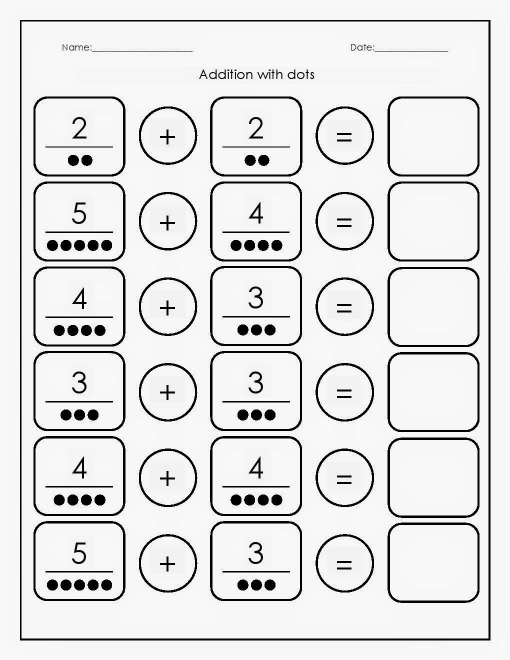 Kindergarten Worksheets Addition 1297600