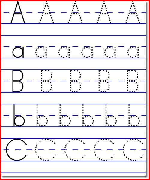 Kindergarten Worksheets Alphabets 243229