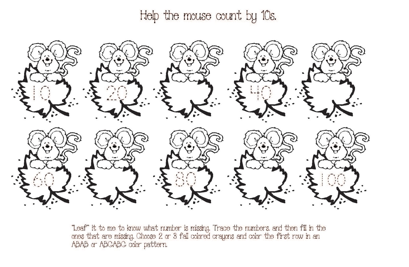 Kindergarten Worksheets Counting By 10 1298568