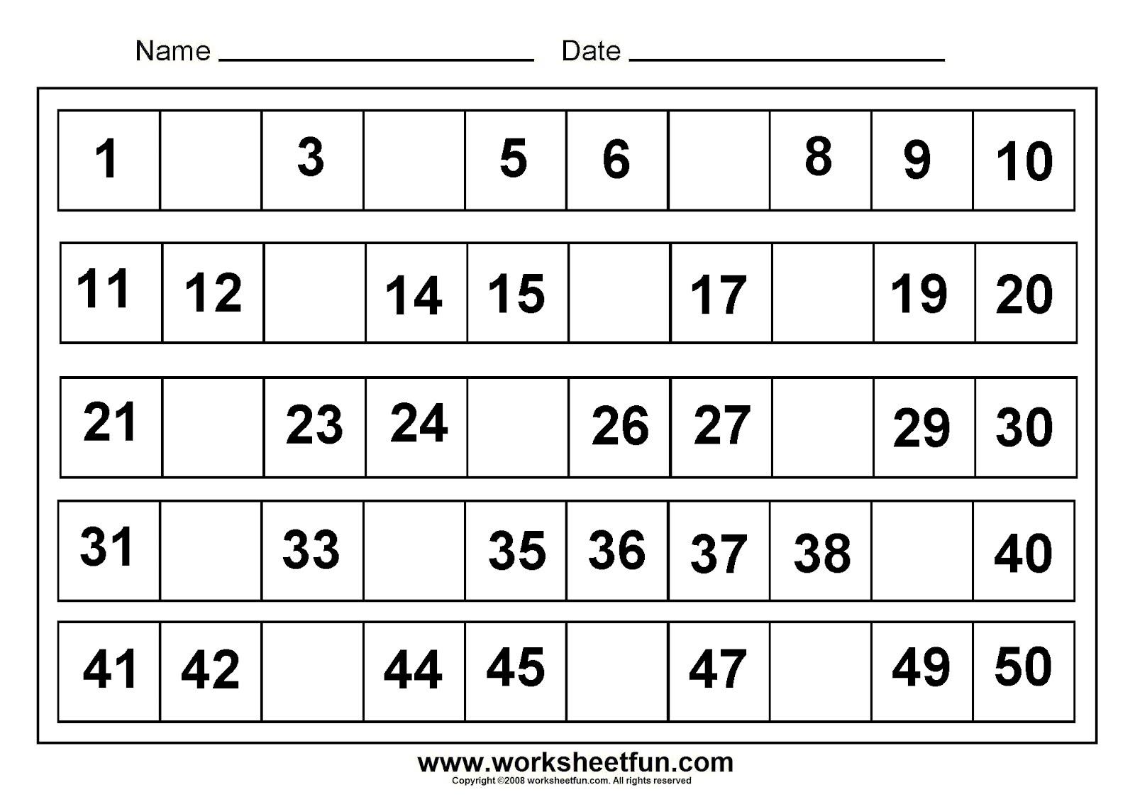 Kindergarten Worksheets Free Printables 857164