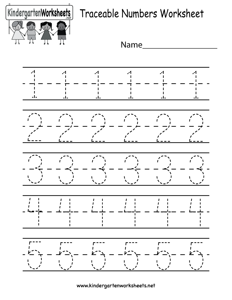 Kindergarten Worksheets Learning Numbers 88894