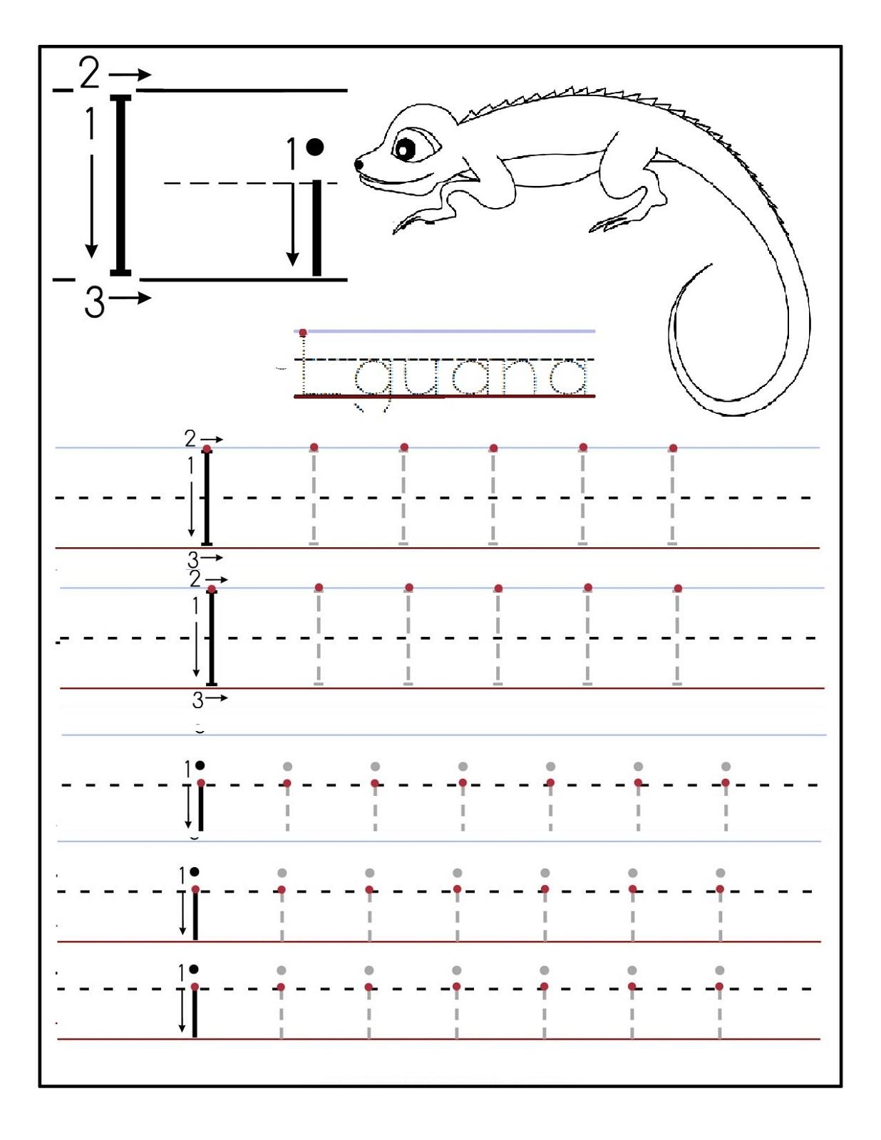 Kindergarten Worksheets Letter I 478332