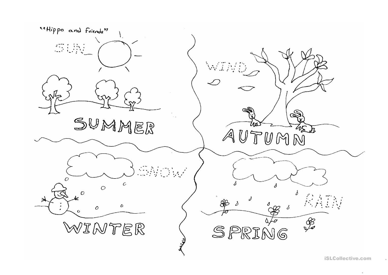 Kindergarten Worksheets On The Four Seasons 295698