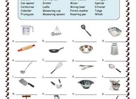 Kitchen Utensils Worksheets The Best Worksheets Image Collection