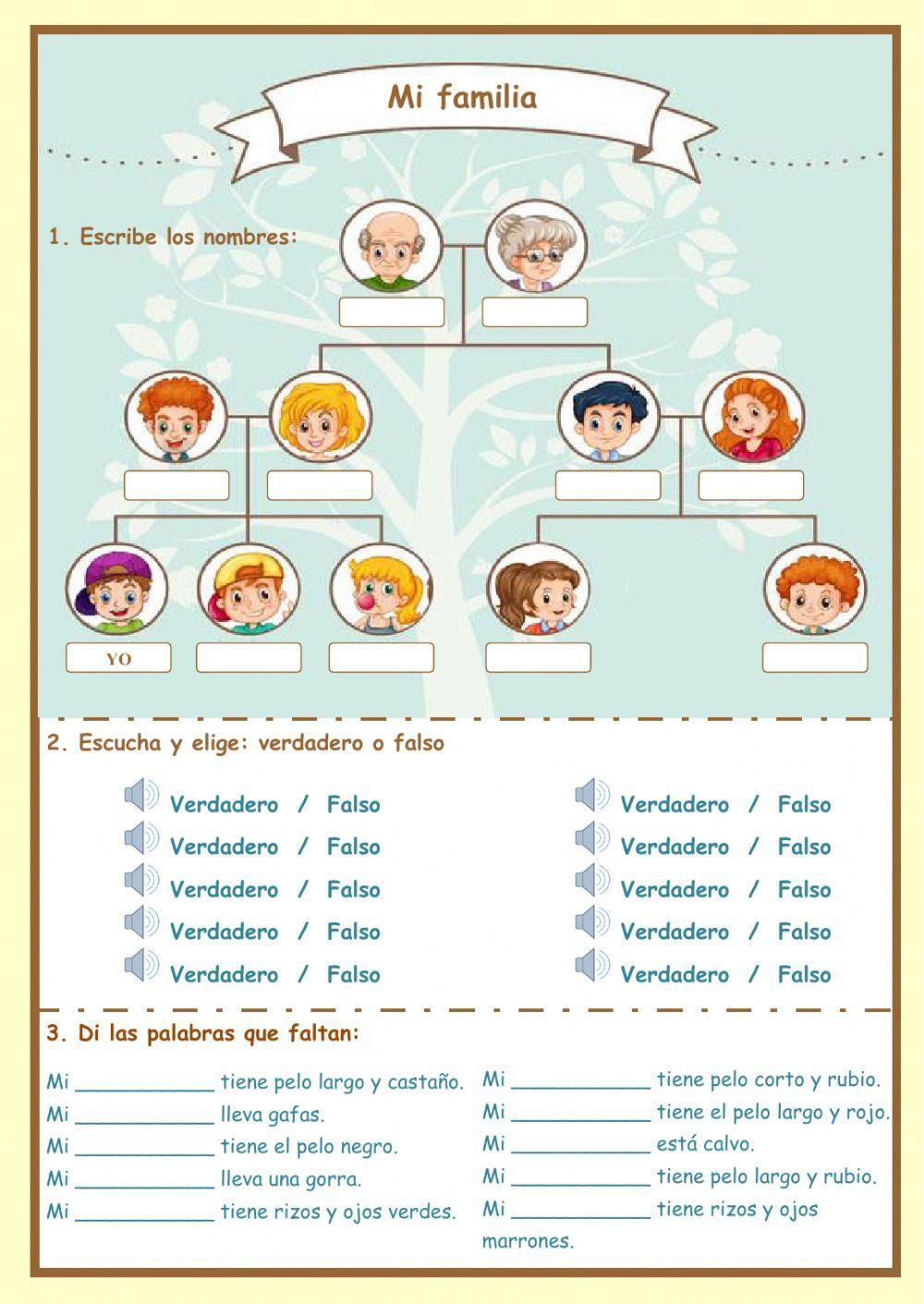La Familia Worksheets 1109143