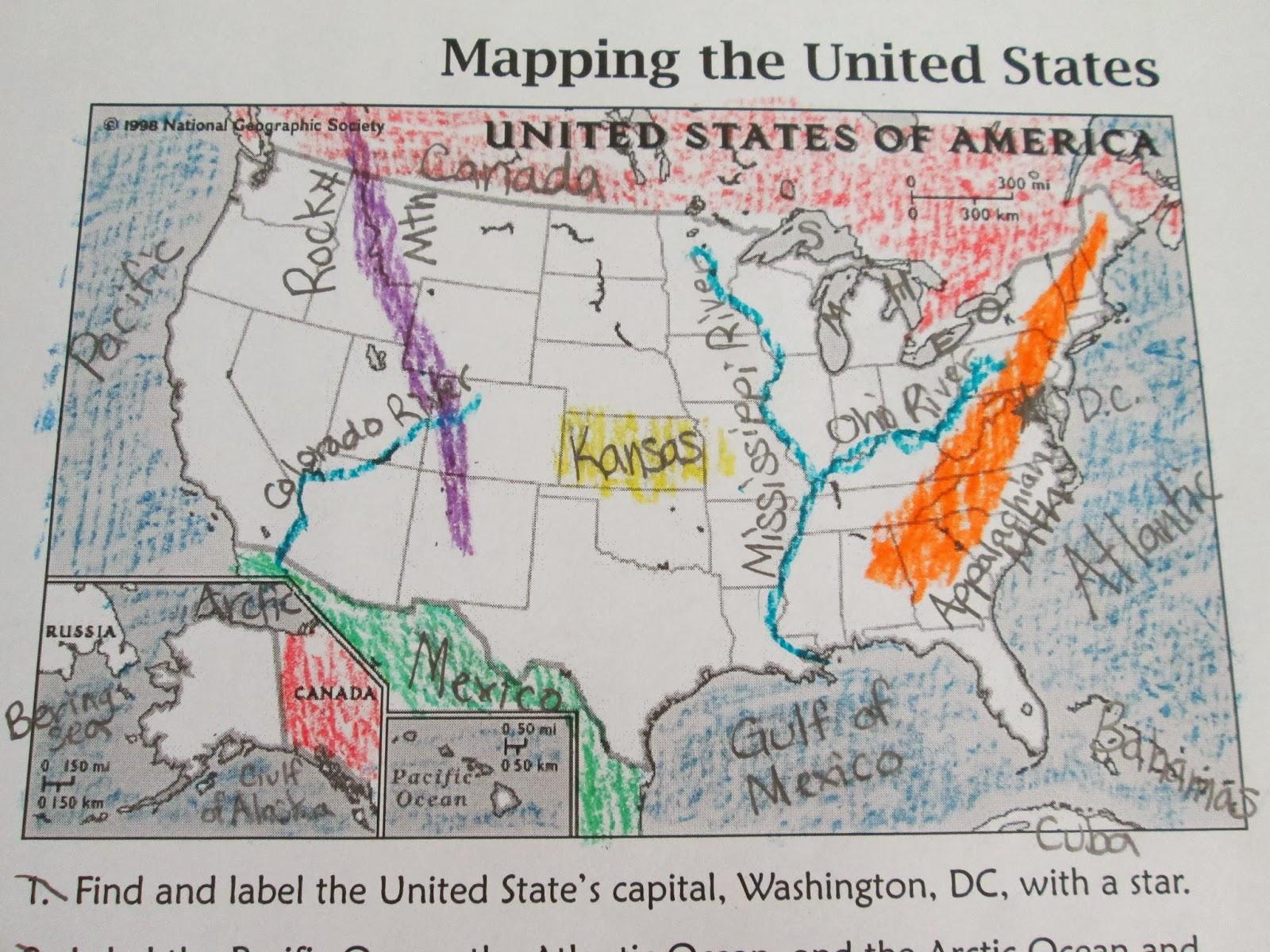 Landform Diagrams Of The Us