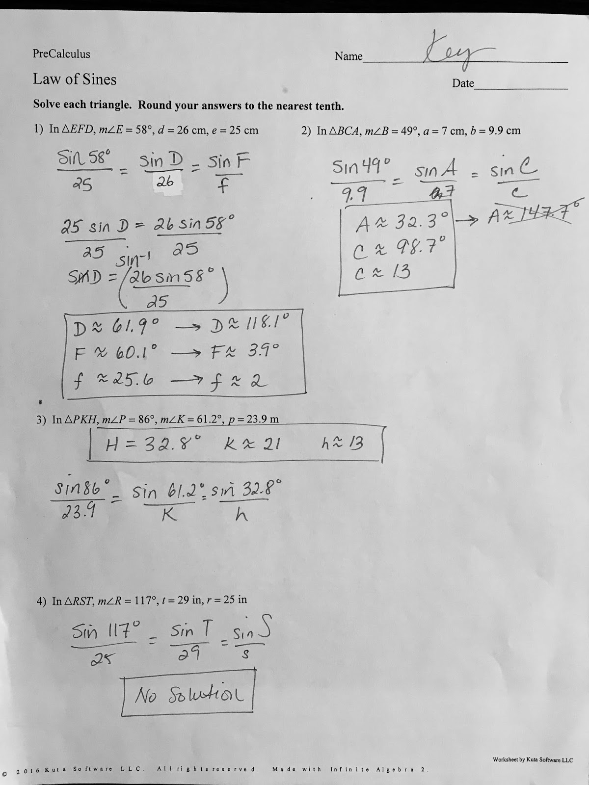 Law Of Sines Worksheet Illuminations 435396