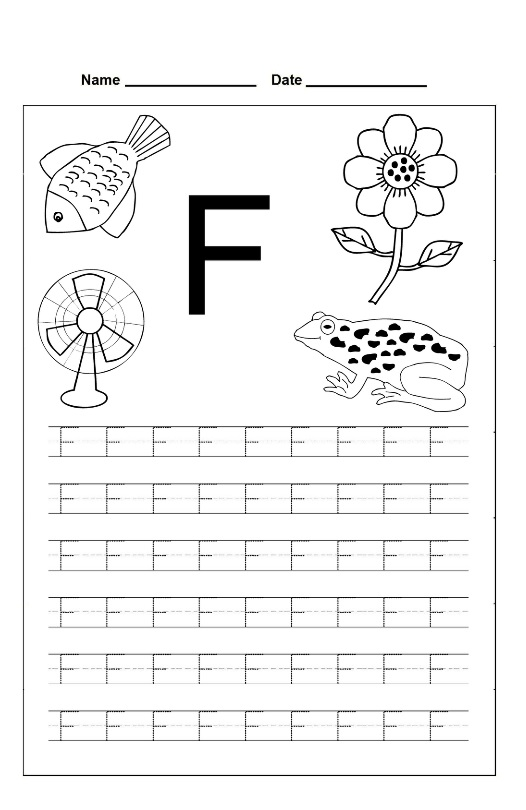 Letter F Tracing Sheets