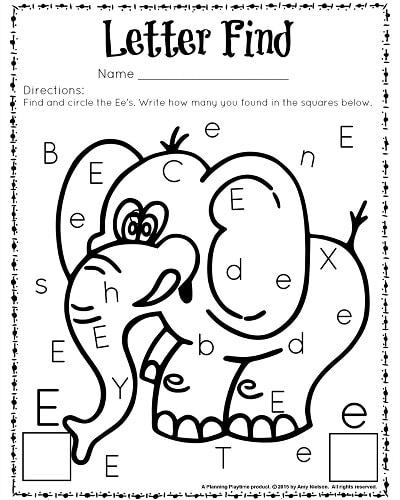 Letter Search Worksheets For Kindergarten