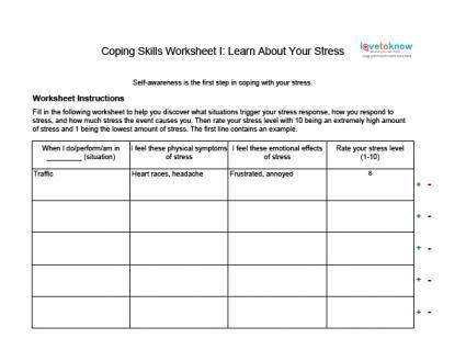 Life Management Skills Worksheets Worksheets For All
