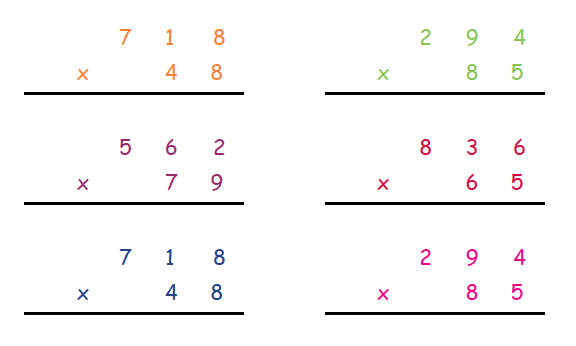 Long Multiplication Explained For Primary