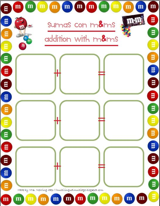 M And M Math Worksheet The Best Worksheets Image Collection