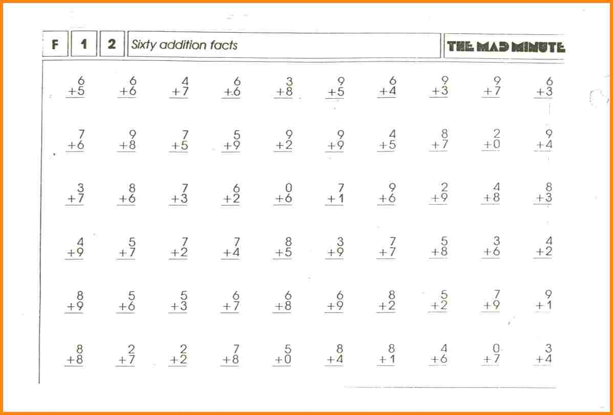 Mad Minute Division Printable Worksheets 506296