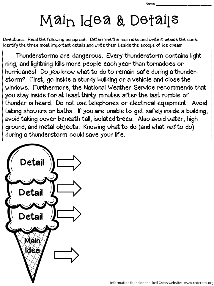 Main Ideas And Supporting Details Worksheets 245770