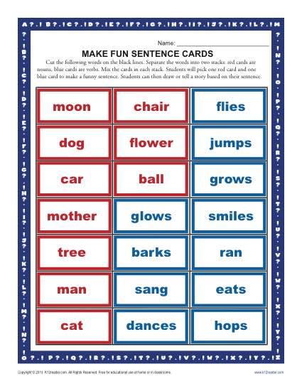 Make A Fun Sentence
