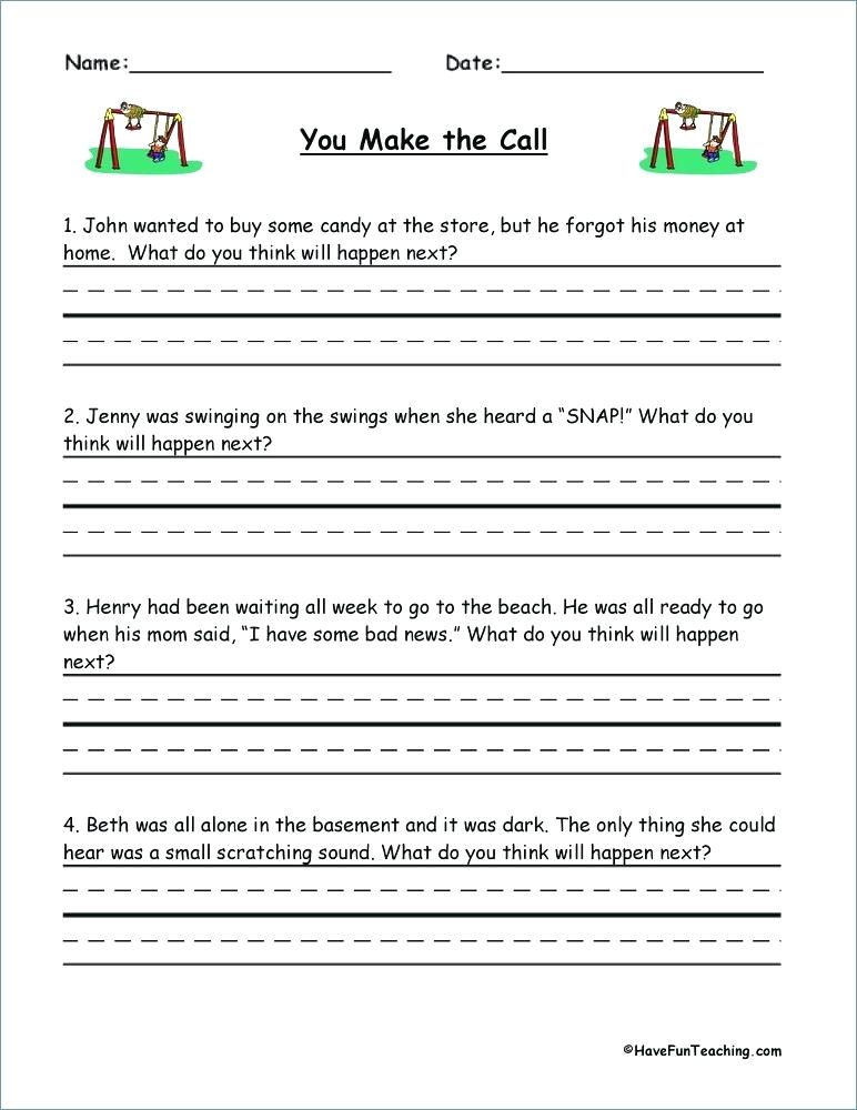 Making Inferences Worksheets For Second Graders Inference Grade 2