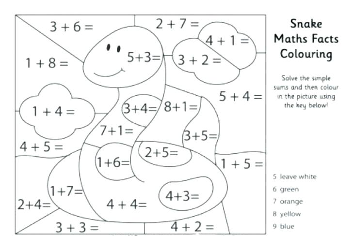 Math Addition Coloring Pages Math Addition Coloring Worksheets