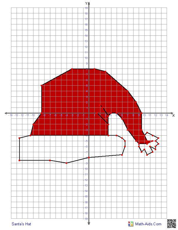 Math Coordinates Worksheets Christmas 228394