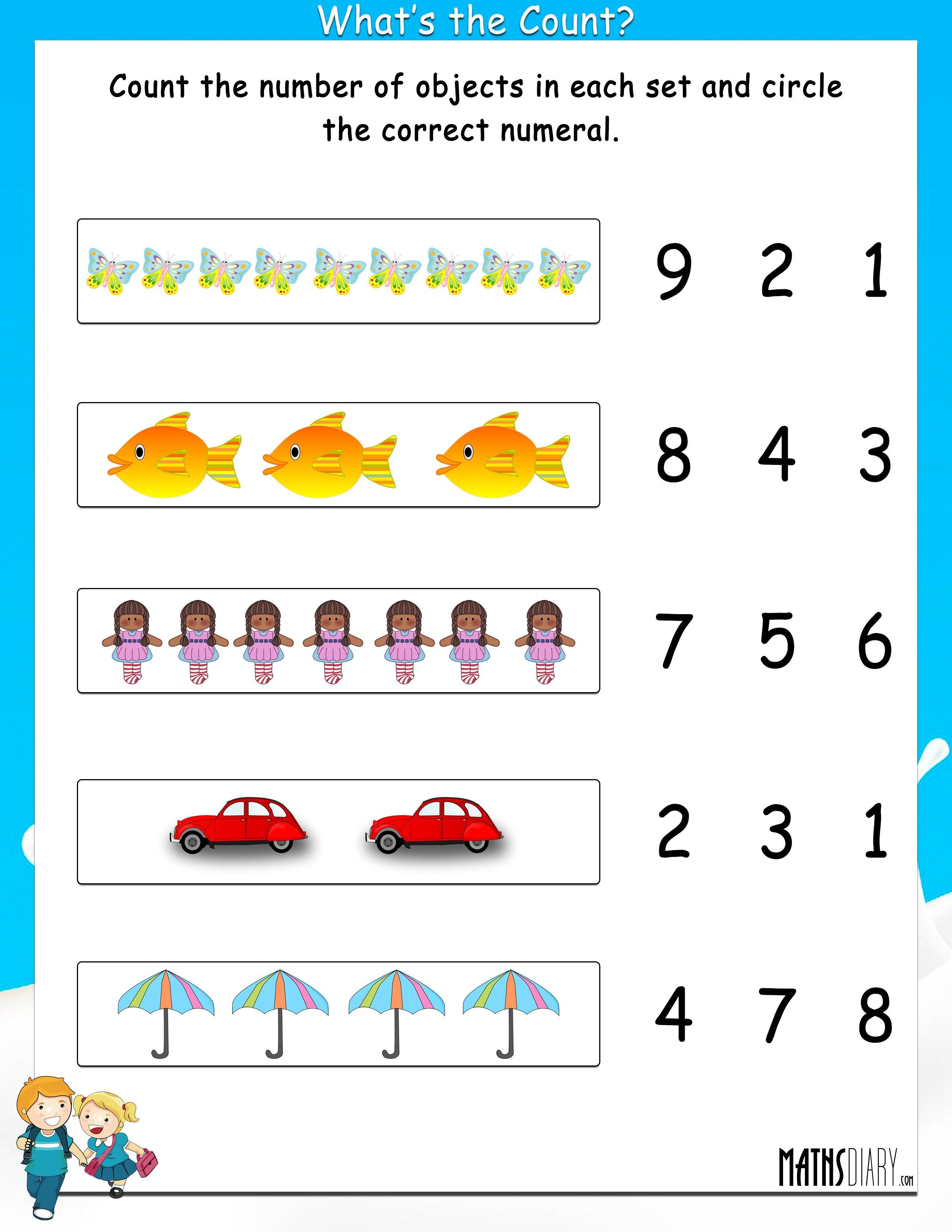 Math Counting Worksheets Grade 1 1219052