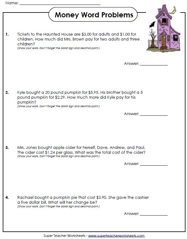 Math Halloween Worksheets 5th Grade 1132003