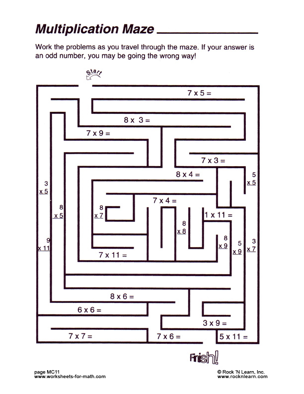 Math Maze Worksheets For High School 48151