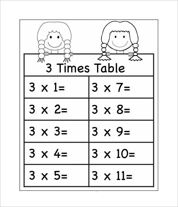 Math Times Tables Worksheets Free 107695