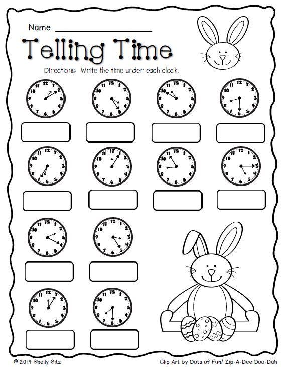 Math Worksheets 2nd Grade Time  1002861