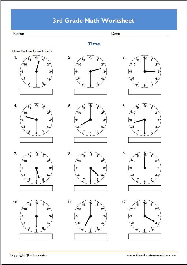 Math Worksheets 3rd Grade Math 392275