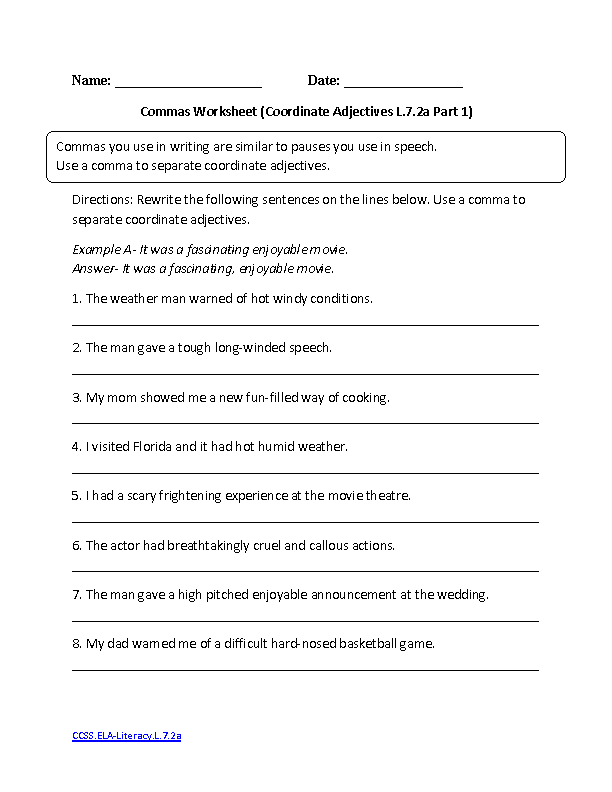 Math Worksheets 7th Grade Common Core 1183123
