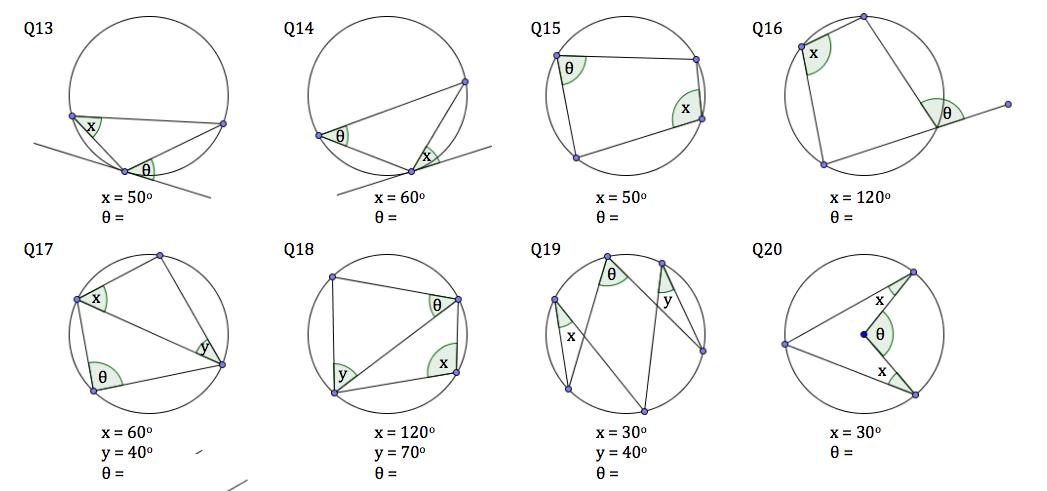 Math Worksheets Circle Proofs 1214025